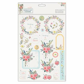 Papermania Freshly Cut Flowers A4 Decoupage Pack With Love