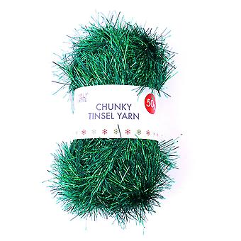 Simply Creative Chunky Tinsel Yarn Green (50g) (SCYRN002X19)