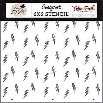 Eco Park Lightning Strike 6x6 Polegadas Stencil