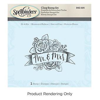Spellbinders Mr. & Set di francobolli Mrs. 3D Cling