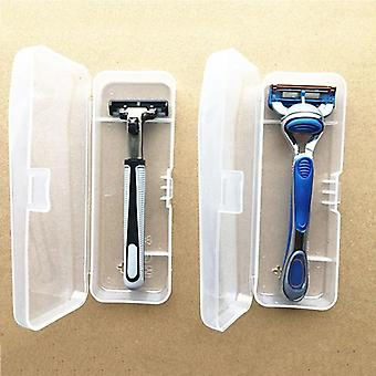Men Universal Shaver Transparent Storage Box - Plastic Shaving Razor Storage