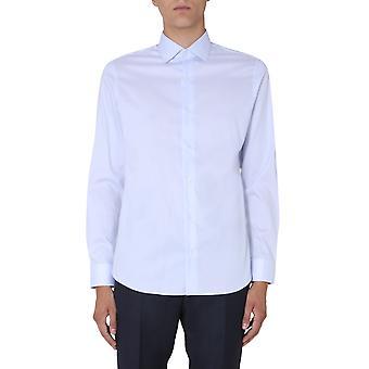 Z Zegna 805188zcsf1g Men's Light Blue Cotton Shirt