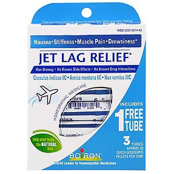 Boiron, Jet Lag Relief, 3 rör, 80 Quick-Upplösning Pellets Varje
