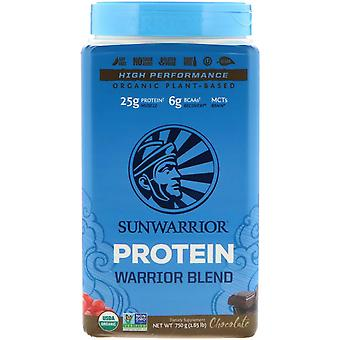 Sunwarrior, Warrior Blend Protein, Organic Plant-Based, Chocolate, 1.65 lb (750