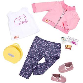 Notre génération 70.30401Z Meow On The Move Toy Accessoires Outfit, pour une poupée de 18 pouces / 46 cm