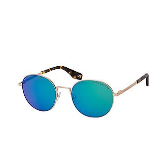 Sunglasses Men's Round gold blue/green