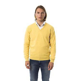 Uominitaliani Giallo Sweater UO817335-XXL