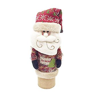Christmas Wine Box Sweater Wine Bottle Santa Claus Design