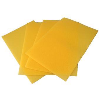 4 x Tappeti di spugna per frigorifero cassetto giallo