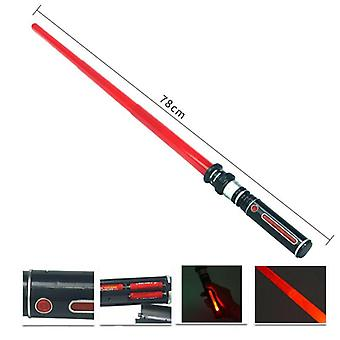 Telescopic Lightsaber Toys Flashing Sword Cosplay Luminous Music Star Laser Toy Swords Kids Toy Boys Gifts