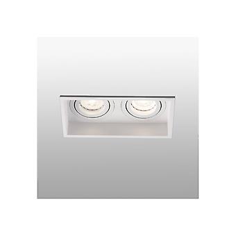 Wit Kantelbaar vierkant verzonken Downlight 2 Light, GU10