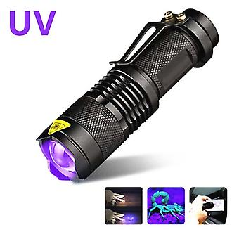 Lampe uv Lampe de poche Ultraviolet Led Torch Stérilisateur Zoomable Pet Urine Stain