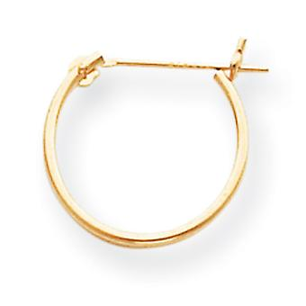 14k Yellow Gold Hollow Polished 1mm Hoop Earrings Measures 15x15mm Jewelry Gifts for Women