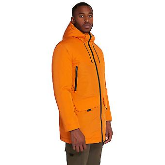Lyle & Scott Casuals Wadded Longline Parka - Risk Orange
