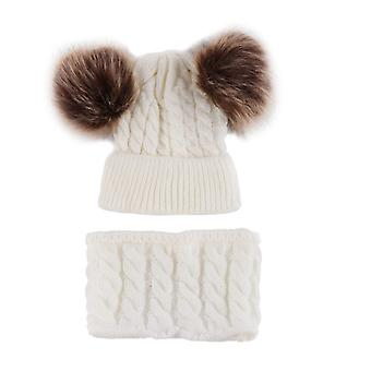 Neonato / Winter Warm Knit Berretto all'uncinetto, cappello e sciarpa Set