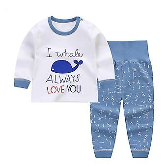 Cartoon Print Baby / Pajamas Sets, Cotton Sleepwear Autumn Spring Waist Long