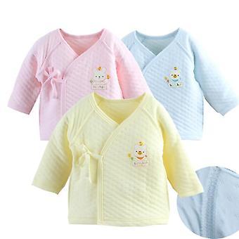 Noworodka kombinezon z długim rękawem bawełniana piżama - Rompers ubrania dla dzieci /