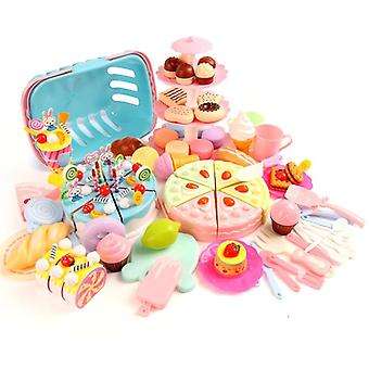 Kitchen Toy Cake Birthday, Miniature Food Stand Set- Pretend Play, Plastic