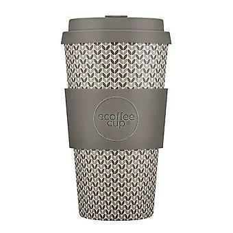 eCoffee Reusable Sustainable Bamboo 16oz Coffee Cups With Silicone Lid & Sleeve