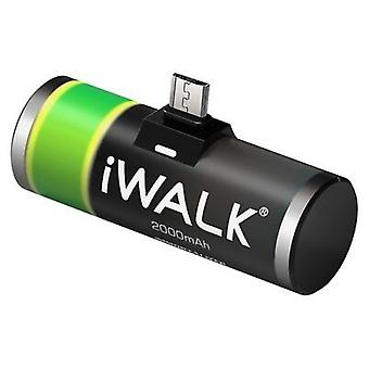 iWALK Micro USB Portable Rechargeable Battery, Universal Power Bank (2000mAh)