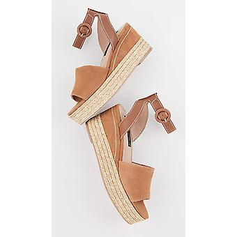 Steven by Steve Madden Women's Shoes Kini Leather Open Toe Casual Platform Sa...