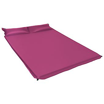 vidaXL Inflatable isomat with cushion 130 x 190 cm Pink