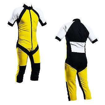 Skydiving summer suit yellow-white s2-03