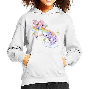 Care Bears Cheer Bear i share bear rozwijenie Rainbow Kid's Hooded Bluza