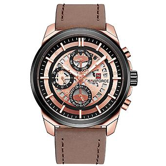 NAVIFORCE 9129 Day Week Display Business Style Mænd Watch Ur Quartz ure