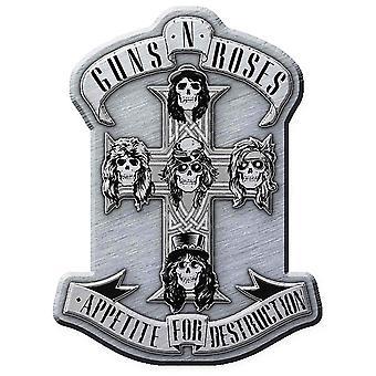 Guns N Roses Pin insignia apetito de destrucción banda insignia solapa Metal oficial