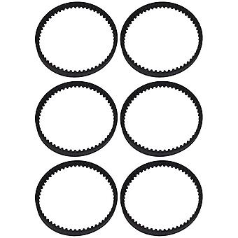 Bissell Compatible Vacuum Cleaner Drive Belts for Geared Brush Pack of 6