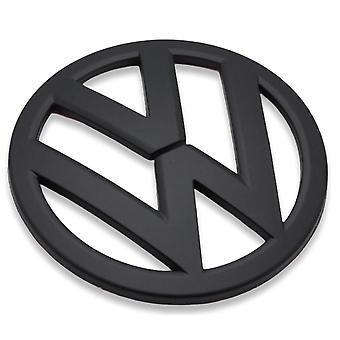Matt Black VW Volkswagen Front Grill Bonnet Badge Emblem For Golf MK4 120mm 1998-2004