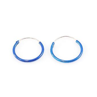 "Pair of hinged hoop 22 gauge 1/2"" (13mm) perfect for cartilage, helix, rook"