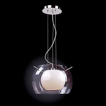Italux Coma - Moderne hængende vedhæng Chrome 1 Lys med hvid, klar skygge, E27