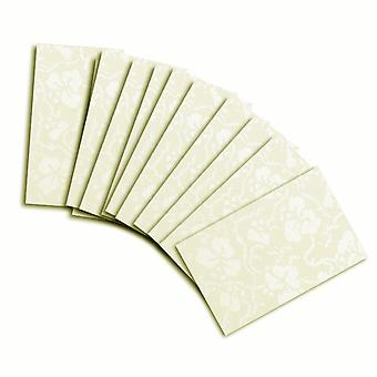 10 Ivory Broderie Card Insert For Mini Pocket (Small)
