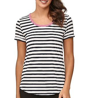 JDY JACQUELINE DE YONG Ladie's T-Shirt Short Sleeve Round Neck Casual Striped