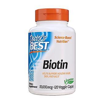 Biotin 10,000 mcg 120 vegetable capsules of 10000mg