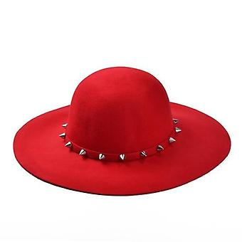 New Fashion Wool Floppy Hats With Studs Big Brim /ladies