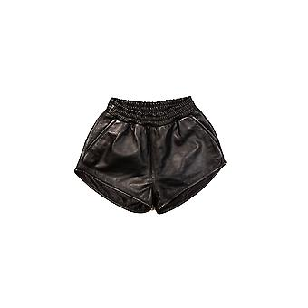 Dames's Fashion High Waist Leather Shorts