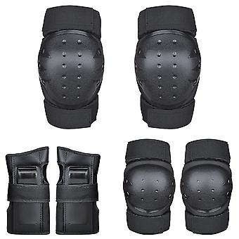 Knee Pads Elbow Pads Bracer 3 in 1 Protective Gear Set for Multi Sports Black