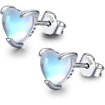 Moonstone Earrings Hypoallergenic Silver Earrings for Girl Teen Women