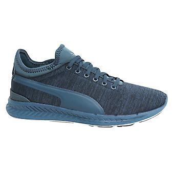 Puma Ignite Sock Jersey Lace Up Blue Mens Textile Sports Trainers 362352 03 X60B