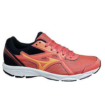 Mizuno Spark 5 Orange Peach Black Low Lace Up Womens Running Trainers K1GA200460