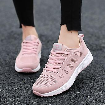 Casual- Mesh Lace-up, Flat Sneaker Shoes