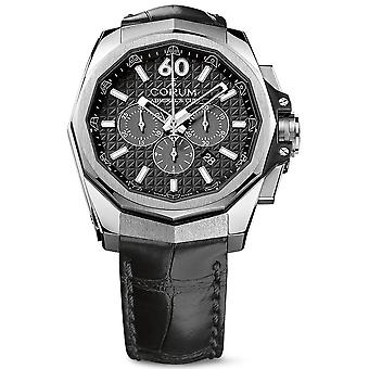 Admiral's cup ac-one 45 chronograph watch for Analog Quartz Men with cowhide bracelet 132.201.04.0F01. AN10