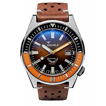 Squale MATICXSD.PTS 600 Meter Swiss Automatic Dive Wristwatch Leather