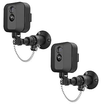 2 Pack anti-theft security chain compatible with blink xt wall mount outdoor indoor bracket becrowme