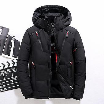 Vysoce kvalitní péřová bunda samec zimní parkas muži s kapucí venkovní tlustý teplý