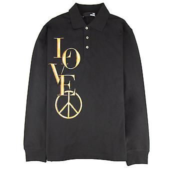 Love Moschino Side Love Logo L/s Polo Nero
