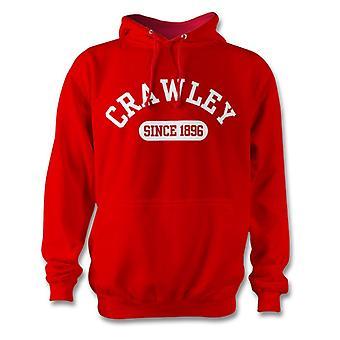 Crawley Town 1896 establecidas fútbol sudadera con capucha